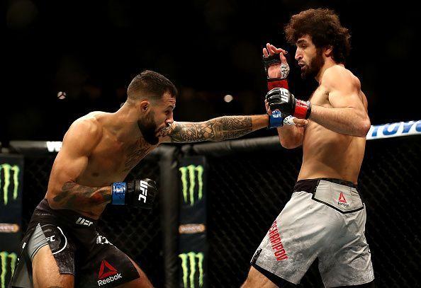 UFC 228 Woodley v Till - Zabit Magomedsharipov (right)