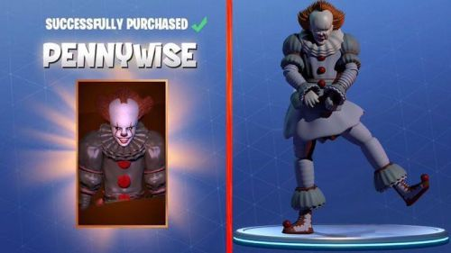 The Pennywise skin posted by Appolo VE on Twitter