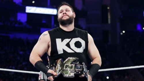 Kevin Owens with the NXT Championship