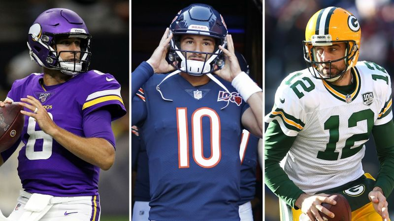 Kirk Cousins, Mitchell Trubisky and Aaron Rodgers