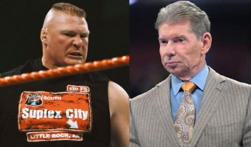 Lesnar and Mr.McMahon