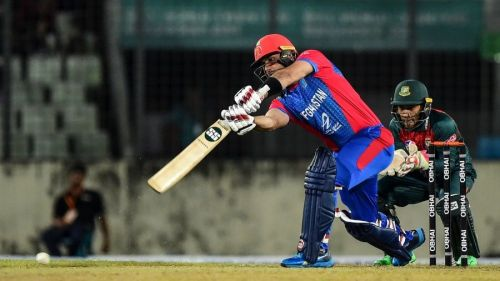Afghanistan failed to convert their strong start into a big total.