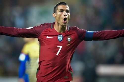 Cristiano Ronaldo rejoices after scoring against Andorra