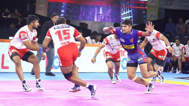 Can Naveen Express continue chugging on? (Image Courtesy: Pro Kabaddi)
