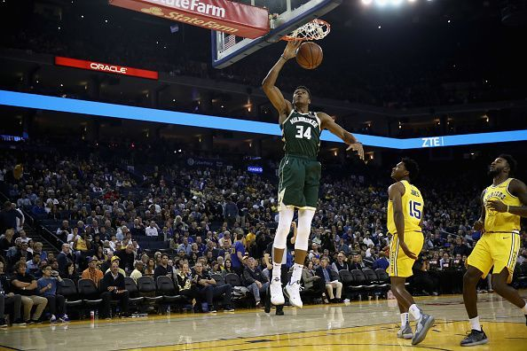 Giannis has been linked with a move to the Warriors