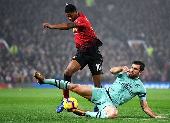 Manchester United versus Arsenal constitutes the headline fixture of the weekend