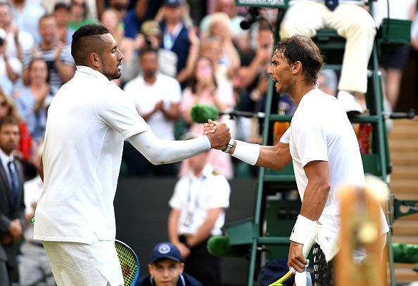 Nadal beat Kyrgios in the second round at 2019 Wimbledon