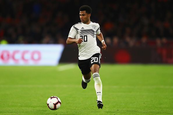 Gnabry was on target for Germany once again