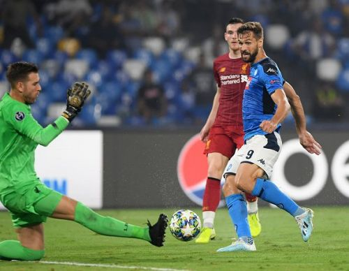 Liverpool went down to Napoli by two goals to nil.