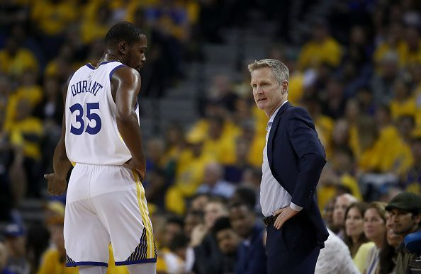 Steve Kerr and Kevin Durant spent three years together with the Golden State Warriors