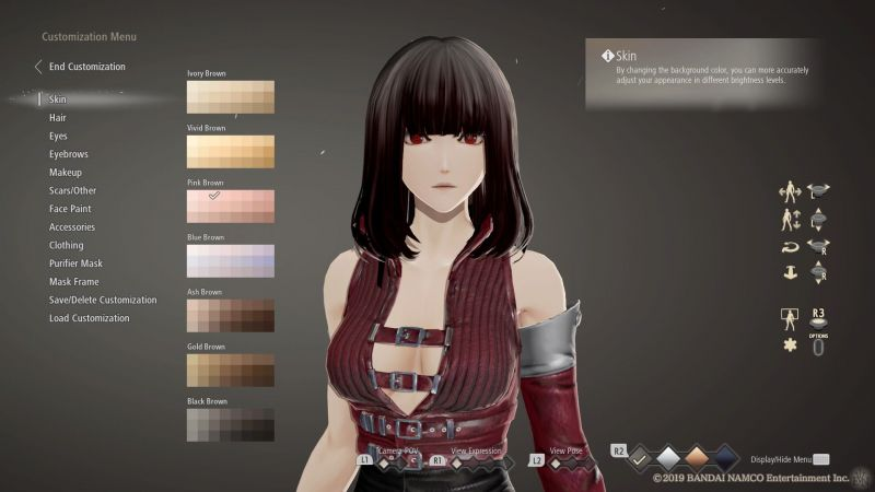 Character creation in Code Vein gives you more options than you deserve.
