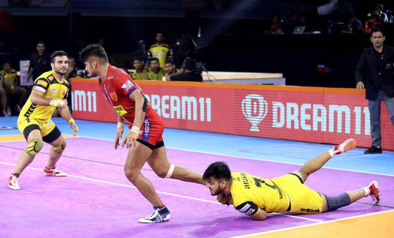 Dabang Delhi destroyed Telugu Titans in a heated face-off