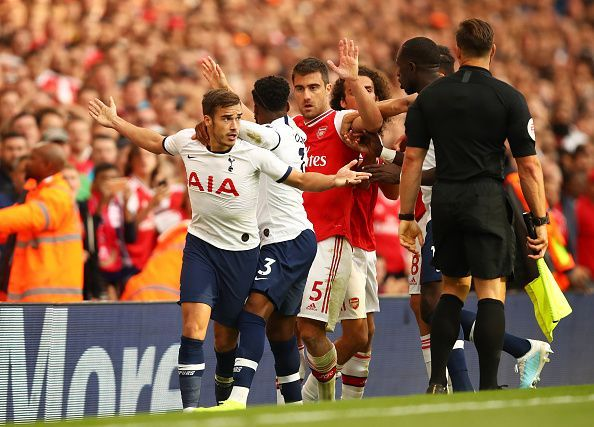 Tottenham held Arsenal to a 2-2 draw at the Emirates Stadium.