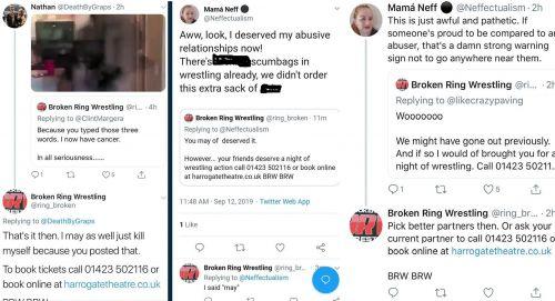 Broken Ring Wrestling's response to harassment claims