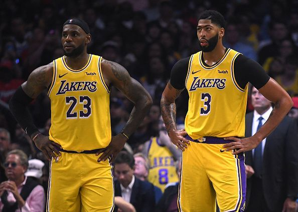LeBron James and Anthony Davis will be looking to notch up the first win of the season for the Lakers