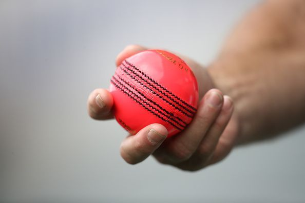 The pink ball that is used for day-night Tests