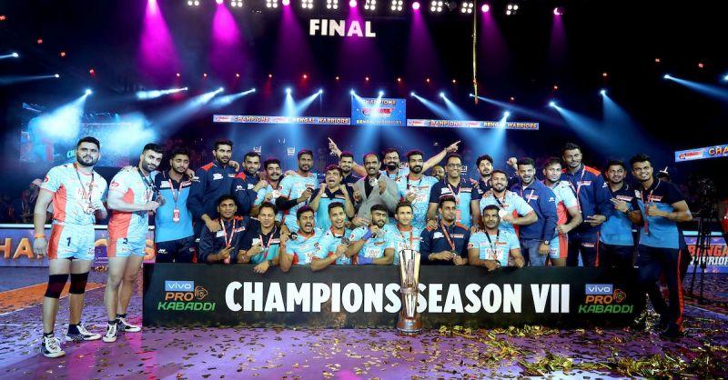 बंगाल वॉरियर्स चैंपियन बनने के बाद