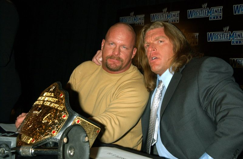 Austin and Triple H are pals here, but they wouldn