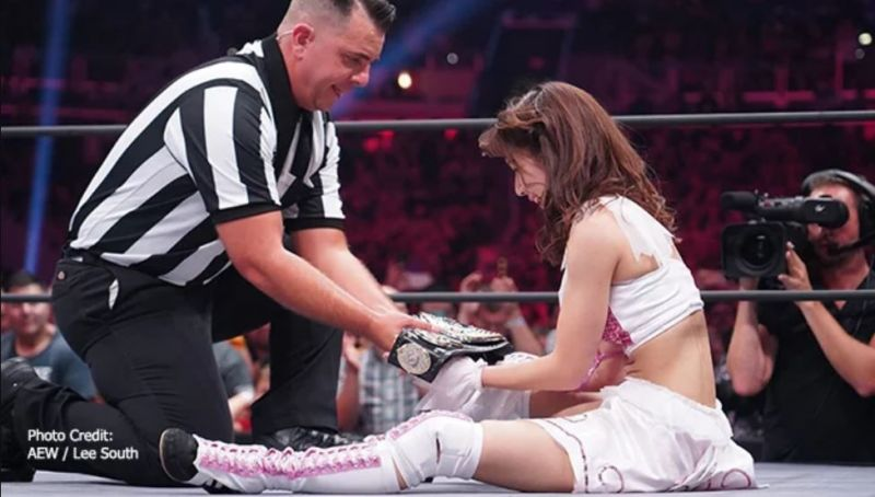 Riho became the first AEW Women