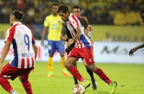 Michael Soosairaj didn't find much joy as a left wing-back in ATK's first game