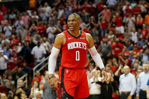 Russell Westbrook led the Rockets to their first win of the season against the Pelicans.