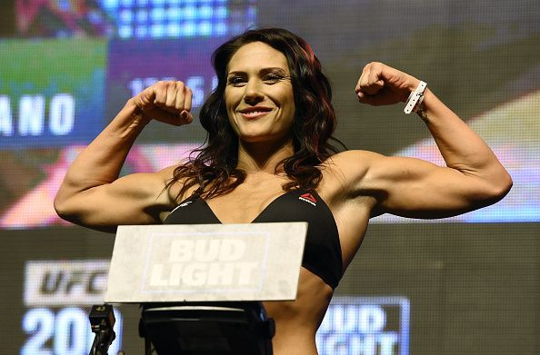 Cat Zingano weighs in for her UFC 200 bout against Julianna Pena
