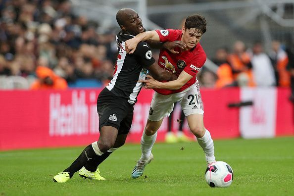 Daniel James was kept at bay effectively by Newcastle United.