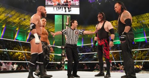 The four stars who main evented last year's Crown Jewel are not part of the show
