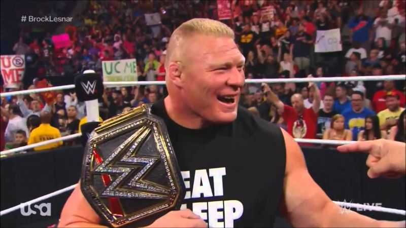 SmackDown Superstar Brock Lesnar is the new WWE Champion.