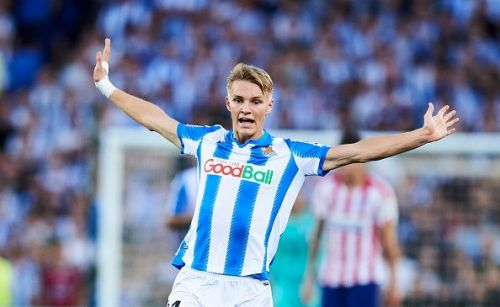 Martin Odegaard continues to impress at the heart of Real Sociedad's midfield