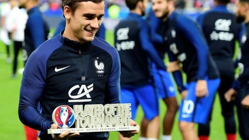 Griezmann was voted as the tournament's best player at Euro 2016