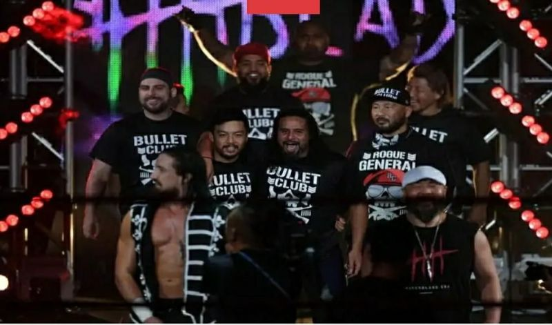 The current incarnation of the Bullet Club