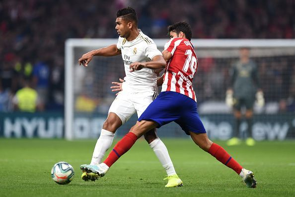 Casemiro (L) is arguably Madrid