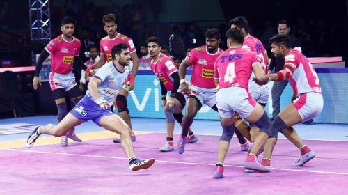Jaipur Pink Panthers succumb to the fierce game of Tamil Thalaivas