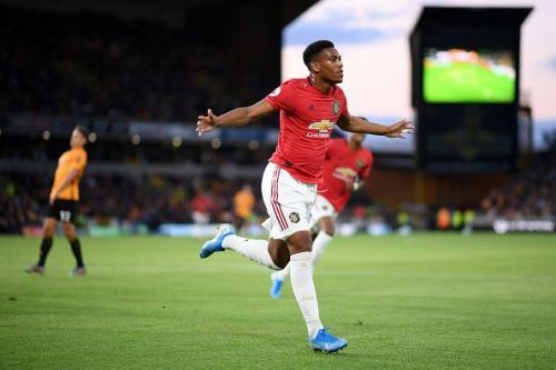 Martial scored in United's opening two games this season