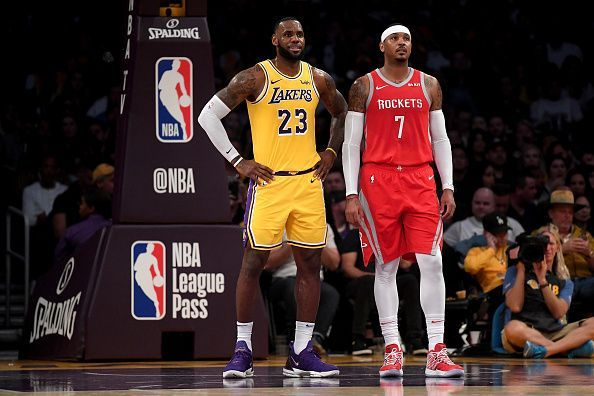 Carmelo Anthony was heavily linked with the Los Angeles Lakers during the 18-19 season