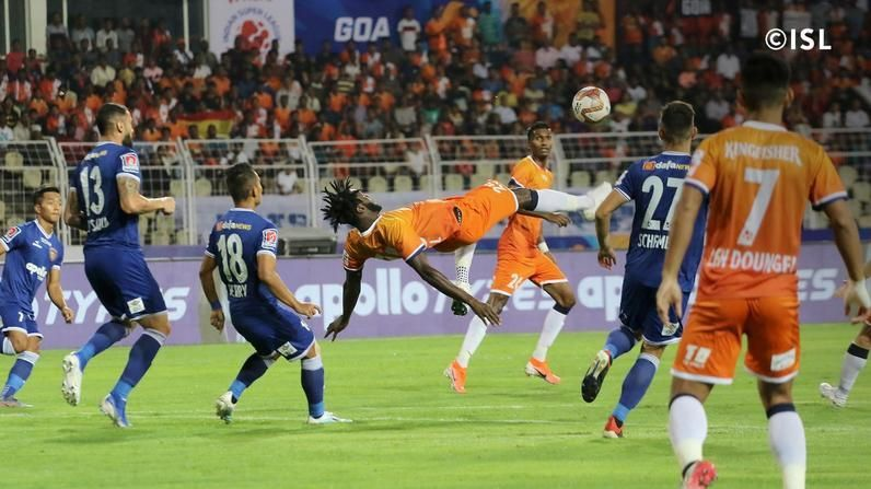 Both the teams in action. (Image courtesy: ISL)