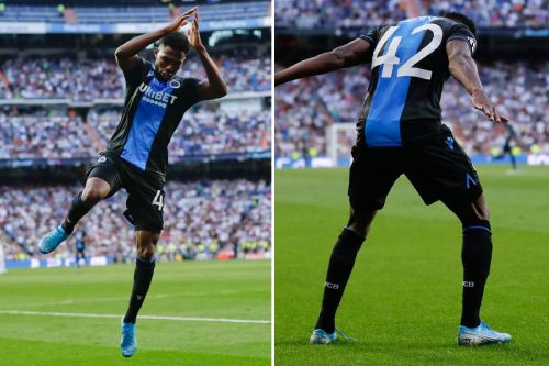Dennis did the famous Ronaldo celebration after he scored the second goal against Real Madrid