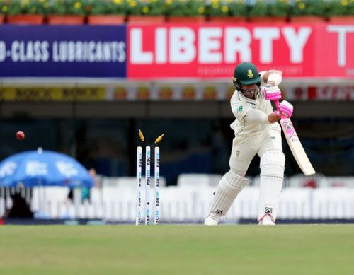 Umesh Yadav castled Faf du Plessis with an absolute peach