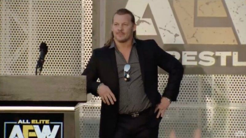 Chris Jericho at the AEW announcement press conference
