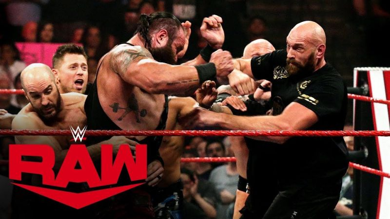 Braun Strowman and boxing champion Tyson Fury got involved in a chaotic brawl!