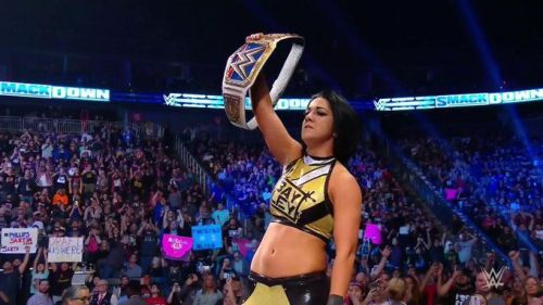 Bayley managed to re-gain her Women's Championship from Charlotte Flair