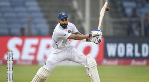 Kohli in action against South Africa at Pune.