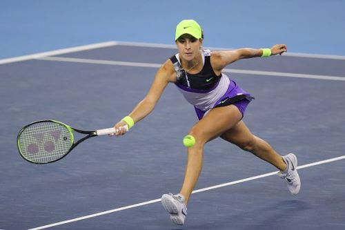 Belinda Bencic came from a set down to win the Kremlin Cup.