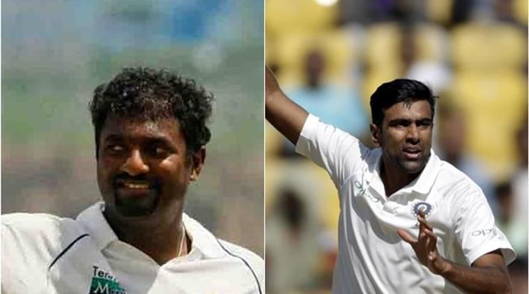 Muttiah Muralitharan could see Ravichandran Ashwin join him as the fastest bowler to 350 Test scalps.