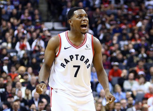 Kyle Lowry and the Toronto Raptors travel to Boston to take on the Celtics