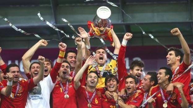 Casillas celebrates Spain