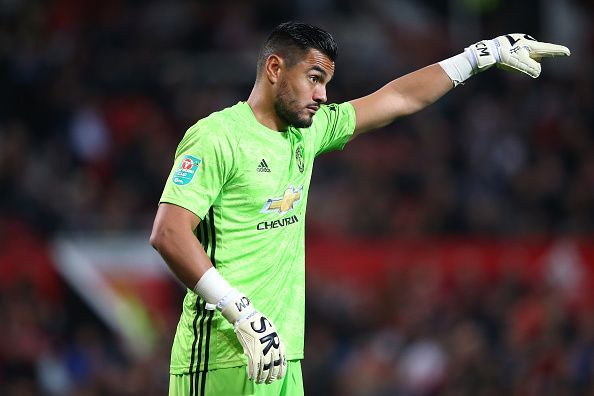Sergio Romero will have to deputise in place of the injured David De Gea.