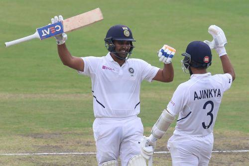 Rohit Sharma registered his third Test hundred.