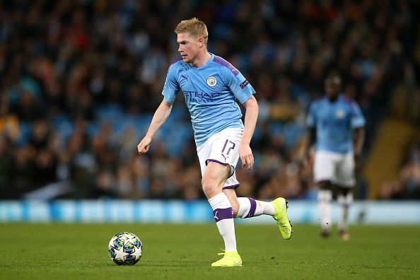 Manchester City v Atalanta - Kevin De Bruyne in action